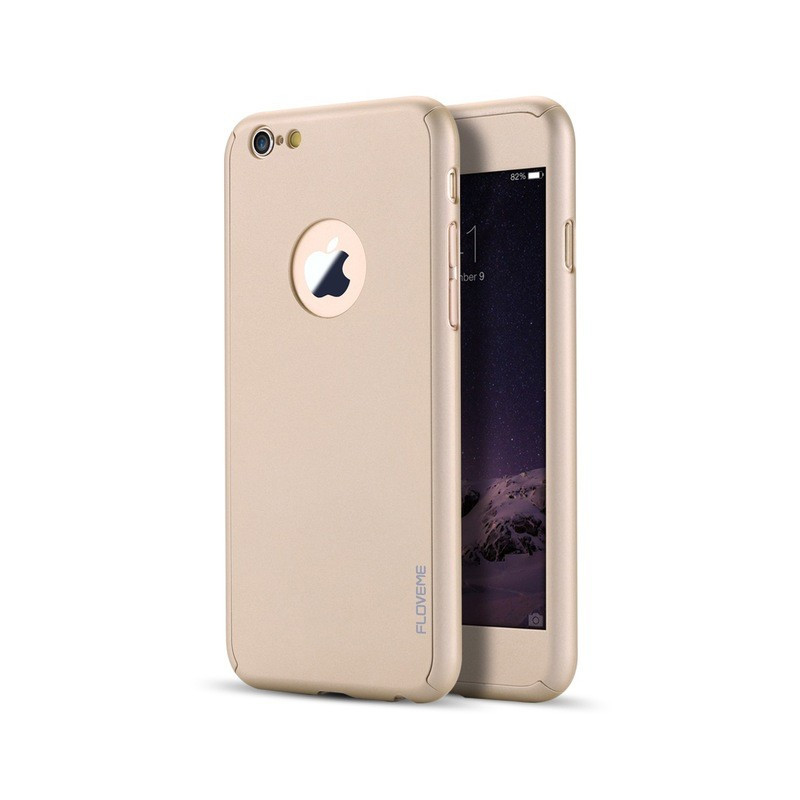 Coque FLOVEME 360° Protection Apple iPhone 6/6S Plus Or
