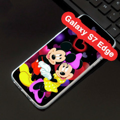 Coque silicone gel Mickey & Minnie in Love Samsung Galaxy S7 Edge