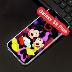 Coque silicone gel Mickey & Minnie in Love Samsung Galaxy S9 Plus