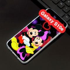 Coque silicone gel Mickey & Minnie in Love Samsung Galaxy S10e