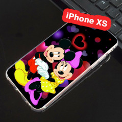 Coque silicone gel Mickey & Minnie in Love Apple iPhone Xs
