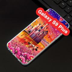 Coque silicone gel Mickey & Minnie Bubble Samsung Galaxy S9 Plus