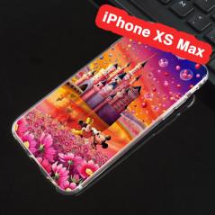 Coque silicone gel Mickey & Minnie Bubble Apple iPhone Xs MAX