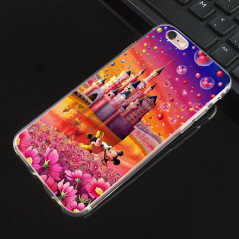 Coque silicone gel Mickey & Minnie Bubble Apple iPhone 6/6S Plus
