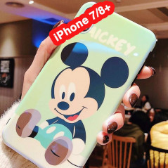 Coque silicone gel Mickey Mouse Baby Apple iPhone 7/8 Plus