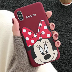 Coque silicone gel Minnie Mouse Lovely Apple iPhone X/XS