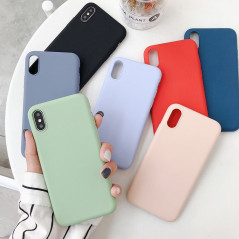 Coque silicone gel doux Apple iPhone X/XS