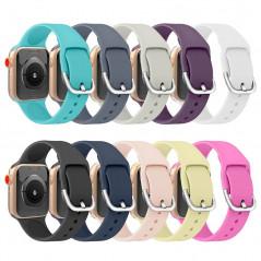 Bracelet sport silicone avec boucle (Taille M/L) Apple Watch 1/2/3/4/5 (38/40mm)