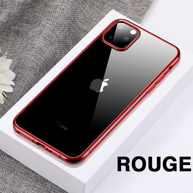 Coque silicone gel CAFELE 3D EDGE Plating contours métallisés Apple iPhone 11 PRO MAX
