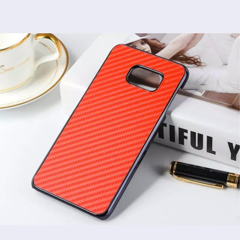Coque Carbon Effect Samsung Galaxy S6 Edge Plus Rouge
