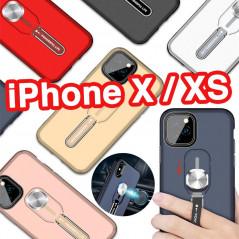 Coque rigide antichoc bimatière Magnetic Series avec béquille Apple iPhone X/XS