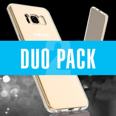 DUOPACK Coque souple Floveme Crystal contours strass Samsung Galaxy S8