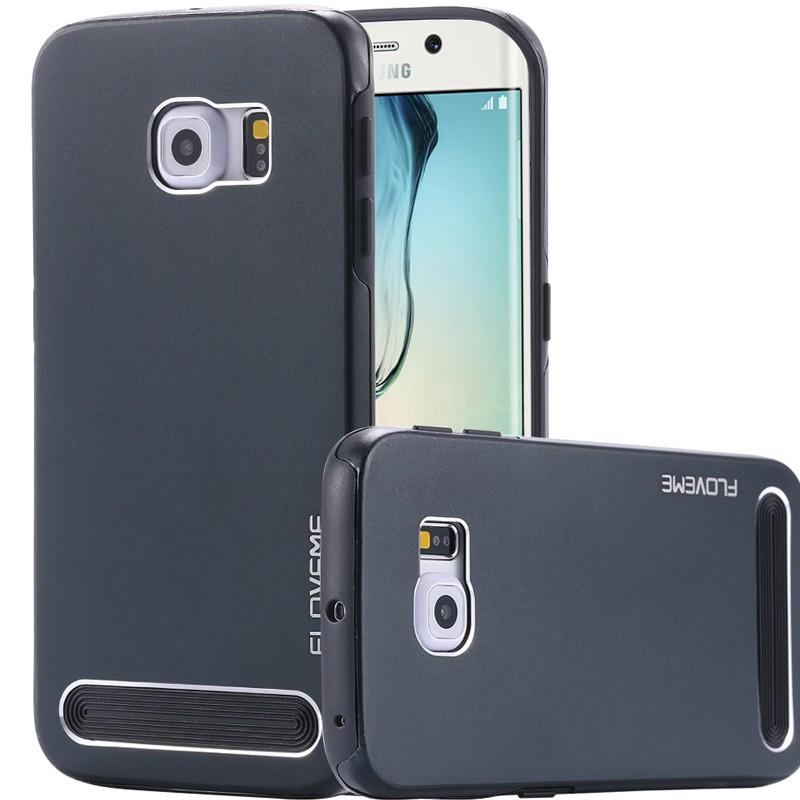 Coque Dual Layer Hybrid Samsung Galaxy S6 Edge Bleu foncé