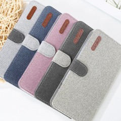 Etui folio Portefeuille Denim Series Samsung Galaxy S10 Plus
