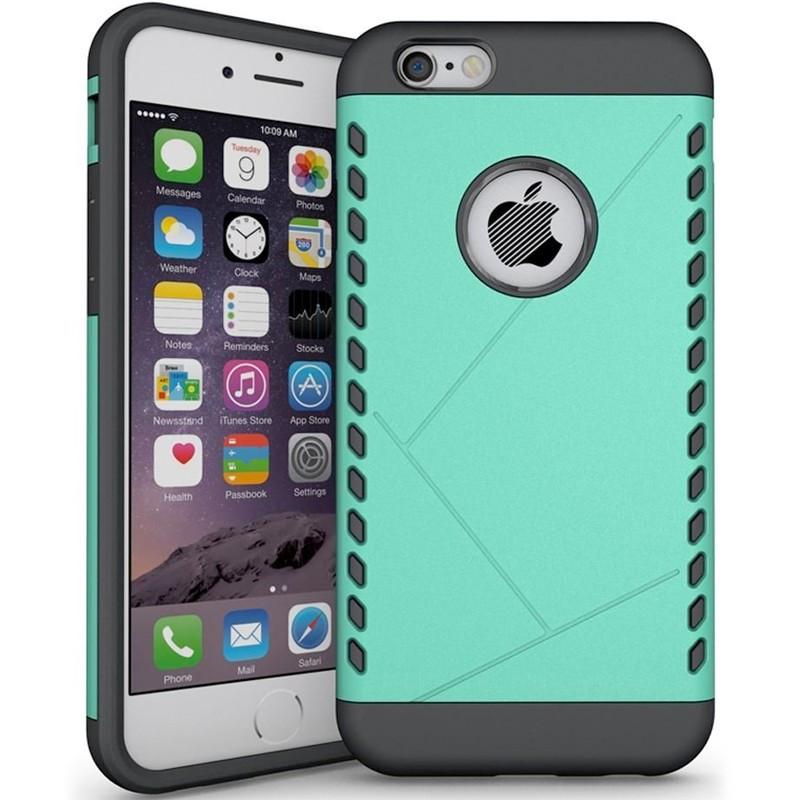 Coque Dual Layer Hybrid Apple iPhone 6/6S Plus Vert