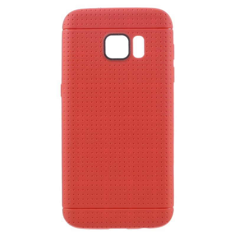 Coque Honeycomb Dots Samsung Galaxy S7 Rouge