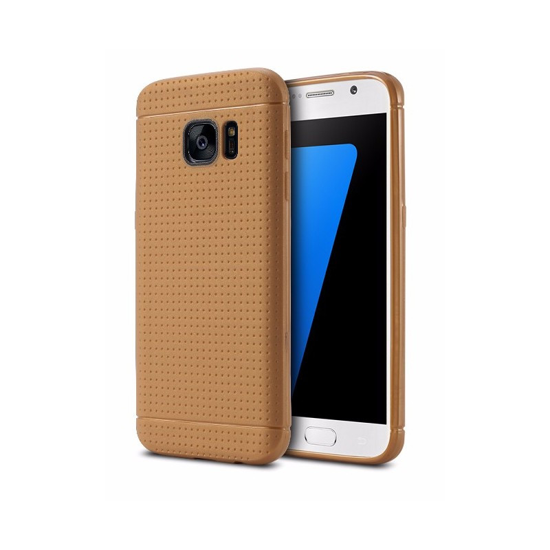 Coque Honeycomb Dots Samsung Galaxy S7 Marron