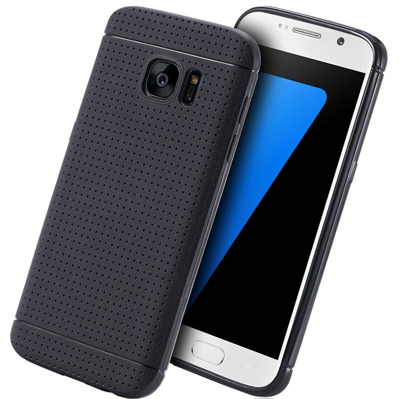 Coque Honeycomb Dots Samsung Galaxy S7 Noir