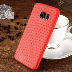Coque Honeycomb Dots Samsung Galaxy S7 Edge Rouge