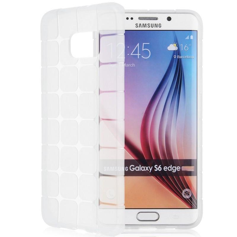 Coque Square Grid Samsung Galaxy S6 Edge Clair