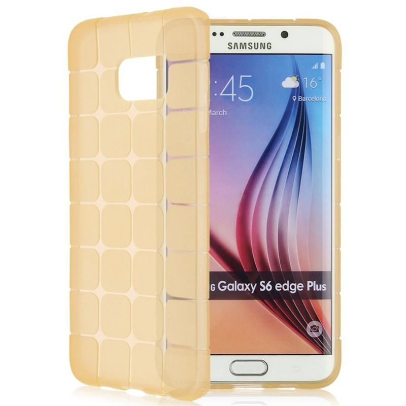 Coque Square Grid Samsung Galaxy S6 Edge Plus Or