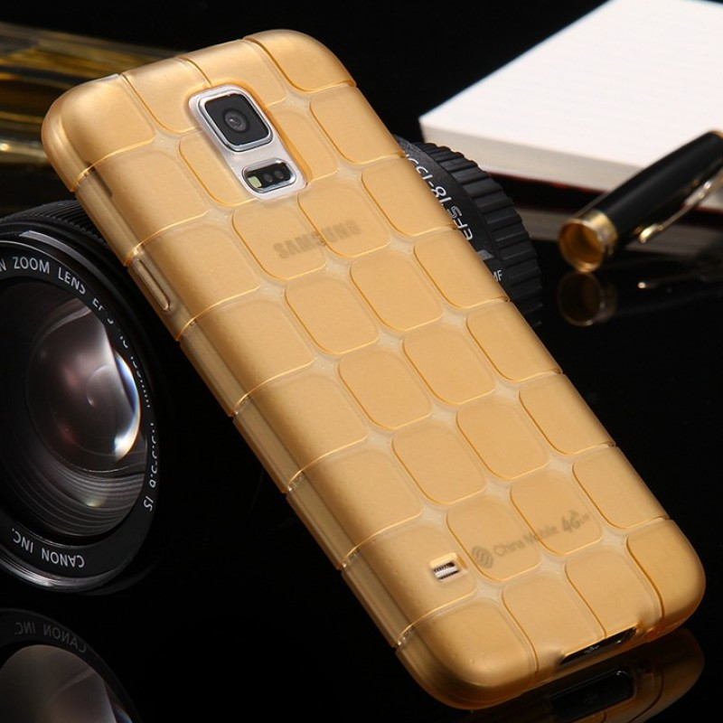 Coque Square Grid Samsung Galaxy S5 Or