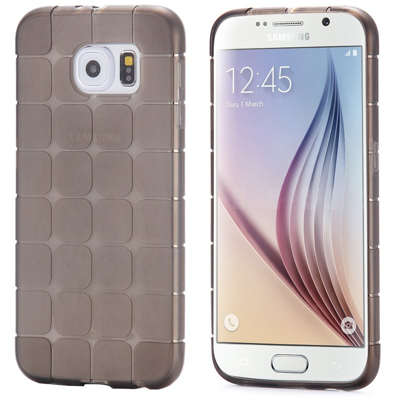 Coque Square Grid Samsung Galaxy S6 Noir