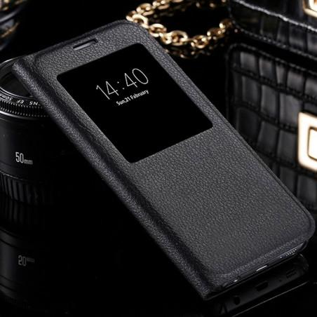 Etui folio View Lychee Skin Samsung Galaxy S7 Edge
