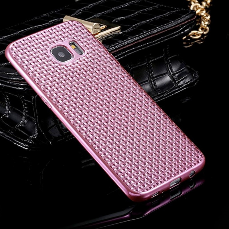 Coque silicone Gel Texture Optic Samsung Galaxy S7 Edge Rose