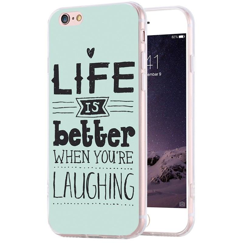 Coque silicone gel LIFE IS BETTER… Apple iPhone 6/6s Plus