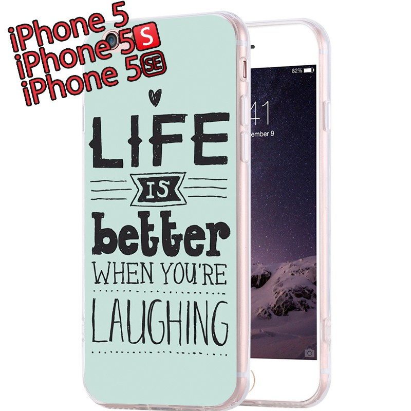 Coque silicone gel LIFE IS BETTER… Apple iPhone 5/5S/SE
