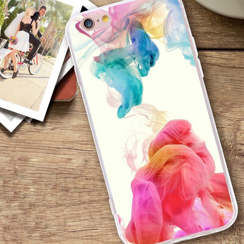 Coque silicone gel COLORFUL CLOTH Apple iPhone 6/6s Plus