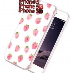 Coque silicone gel FRAISE Apple iPhone 5/5S/SE
