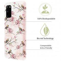 Coque rigide Uunique Nutrisiti BIO Samsung Galaxy S20/S20 5G Pink Floral