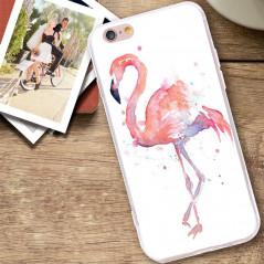 Coque silicone gel FLAMAN ROSE Apple iPhone 6/6s Plus