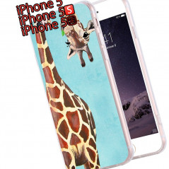 Coque silicone gel GIRAFE Apple iPhone 5/5S/SE